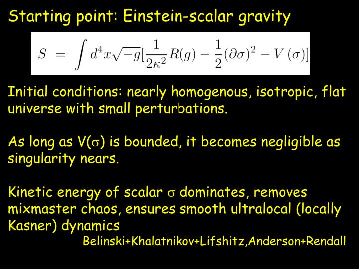 Starting point: Einstein-scalar gravity