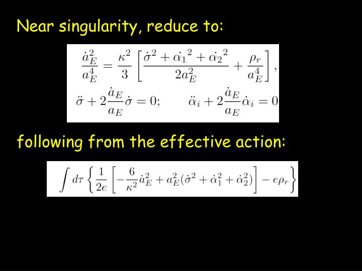 Near singularity, reduce to:
