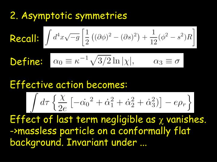 2. Asymptotic symmetries