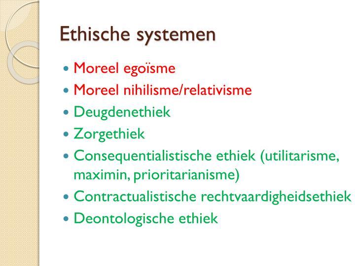 Ethische systemen