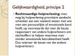 gelijkwaardigheid principe 2