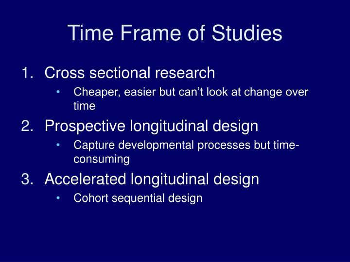 Time Frame of Studies