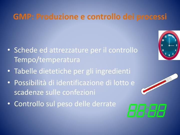 GMP: Produzione e controllo dei processi