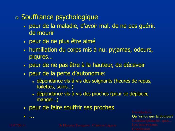 Souffrance psychologique