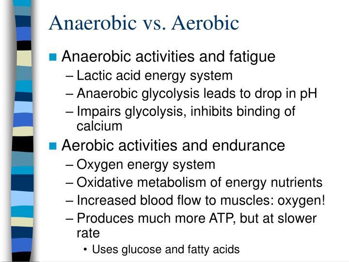 Anaerobic vs. Aerobic