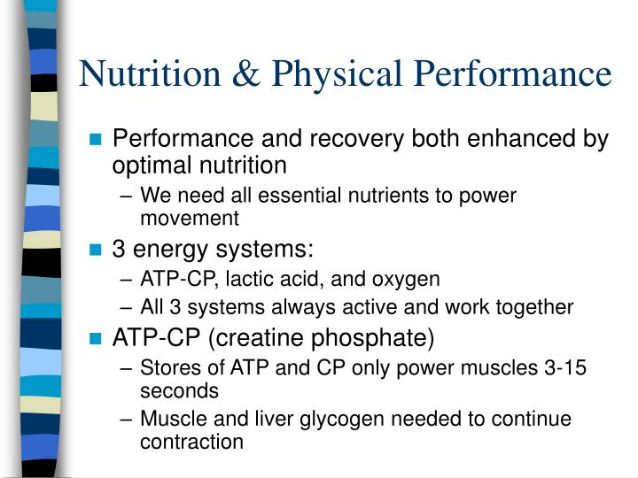 Nutrition & Physical Performance