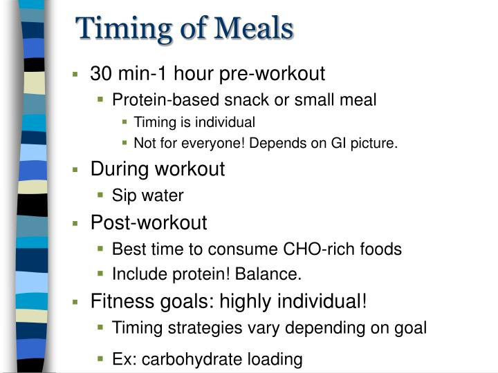 Timing of Meals