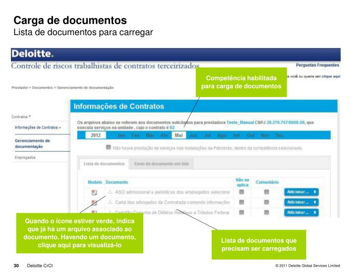 Carga de documentos