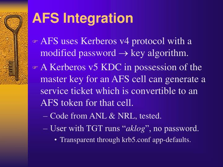 AFS Integration