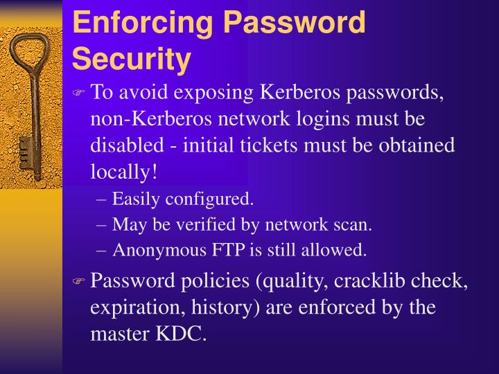 Enforcing Password Security
