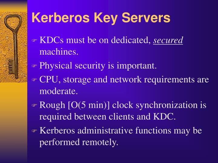Kerberos Key Servers