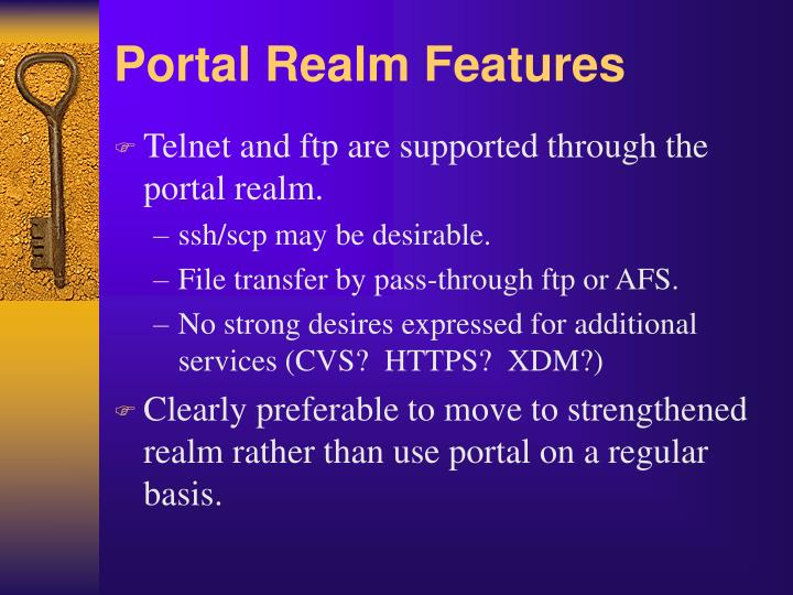 Portal Realm Features