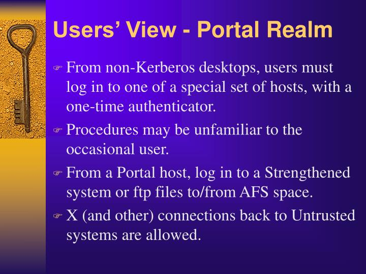 Users' View - Portal Realm
