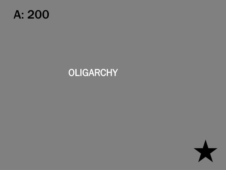 A: 200