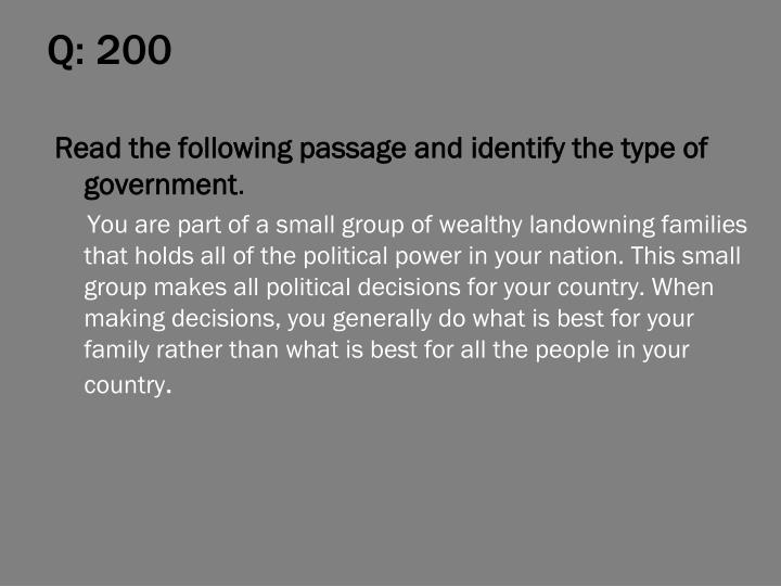 Q: 200