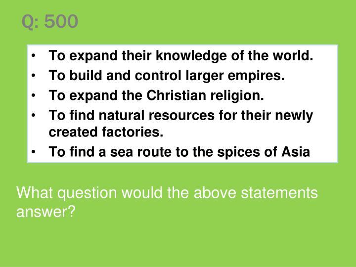 Q: 500