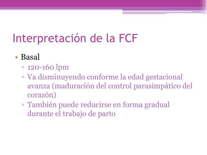 Interpretación de la FCF