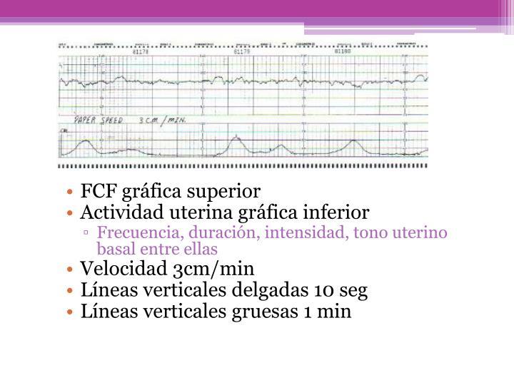 FCF gráfica superior
