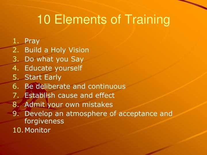 10 Elements of Training