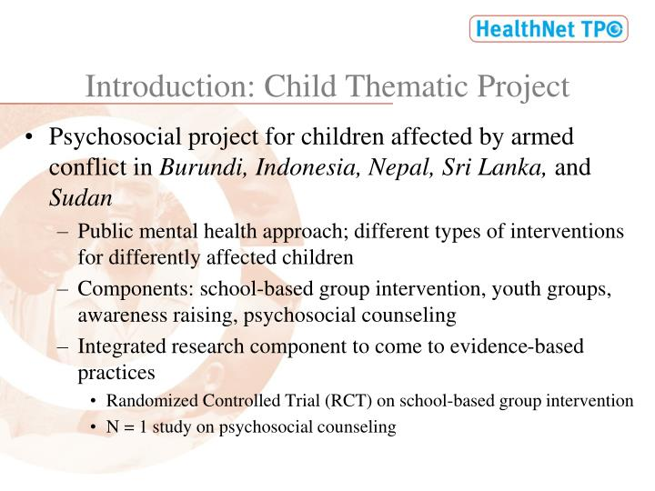 Introduction: Child Thematic Project