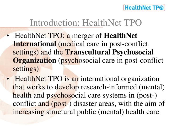 Introduction healthnet tpo