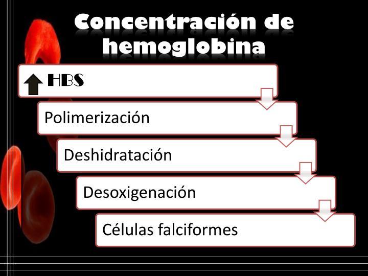 Concentración de hemoglobina