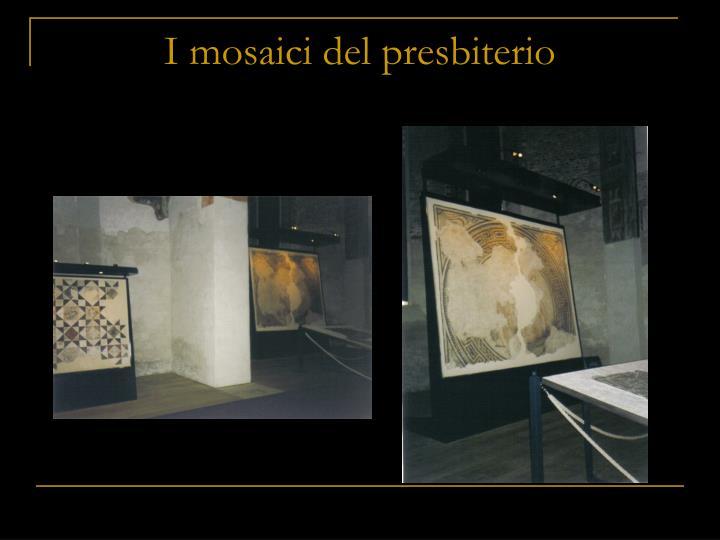 I mosaici del presbiterio