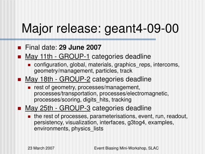 Major release: geant4-09-00