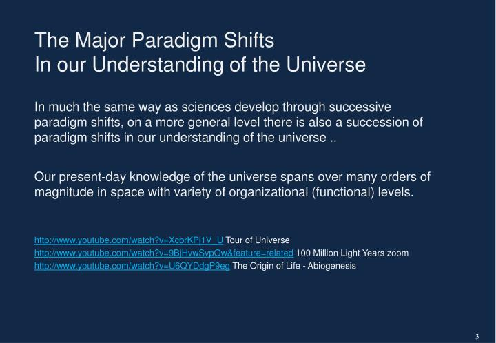 The Major Paradigm Shifts