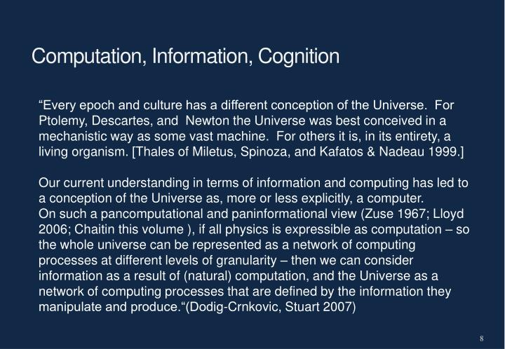 Computation, Information, Cognition