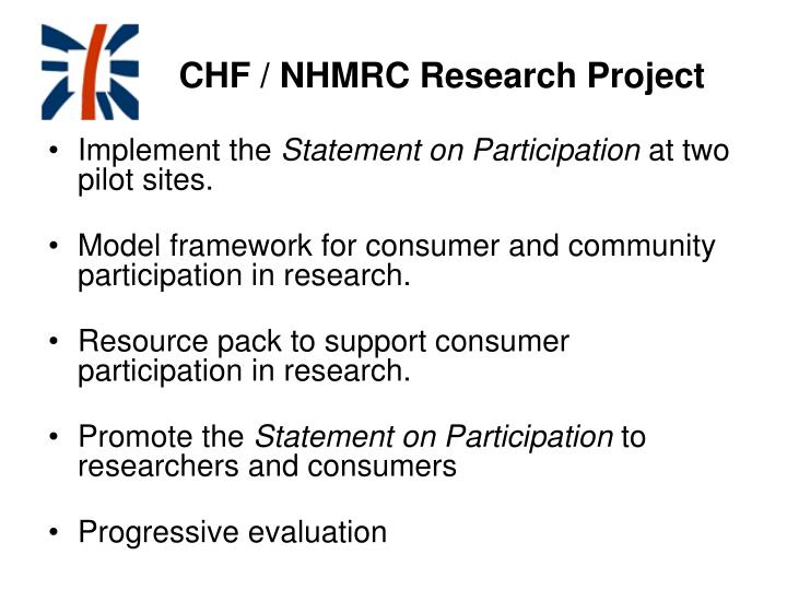 CHF / NHMRC Research Project