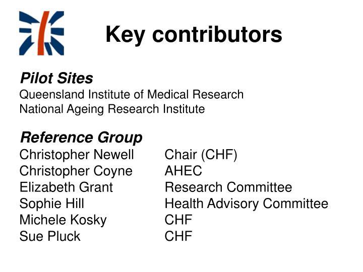 Key contributors