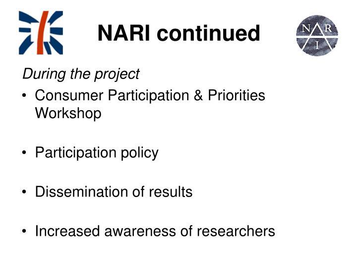 NARI continued