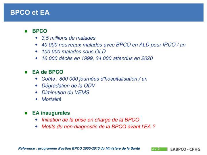 BPCO et EA
