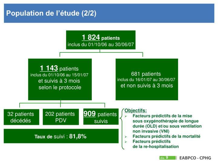 Population de l'étude (2/2)