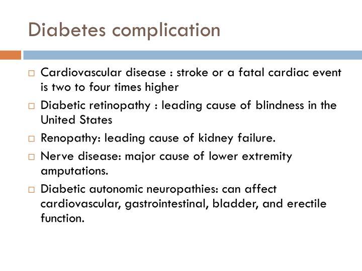 Diabetes complication