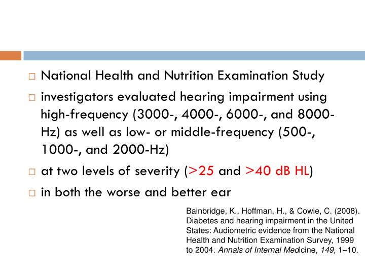National Health and Nutrition Examination Study