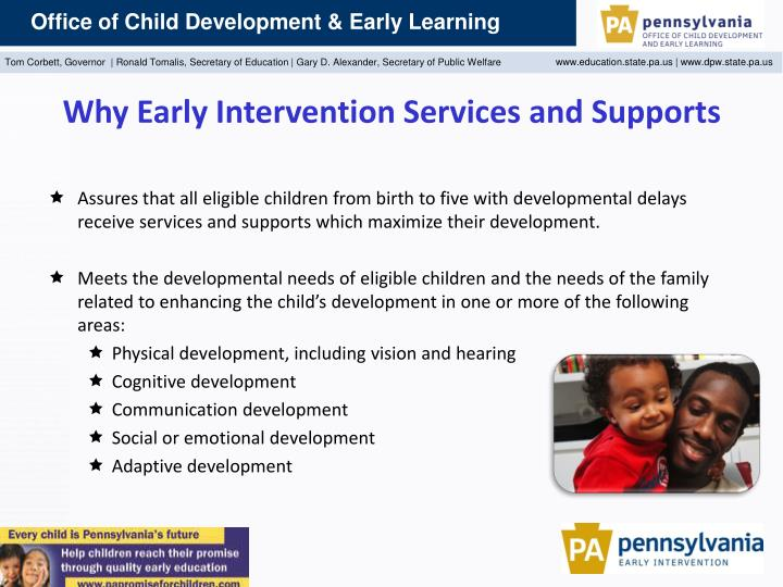 Why Early Intervention Services and Supports