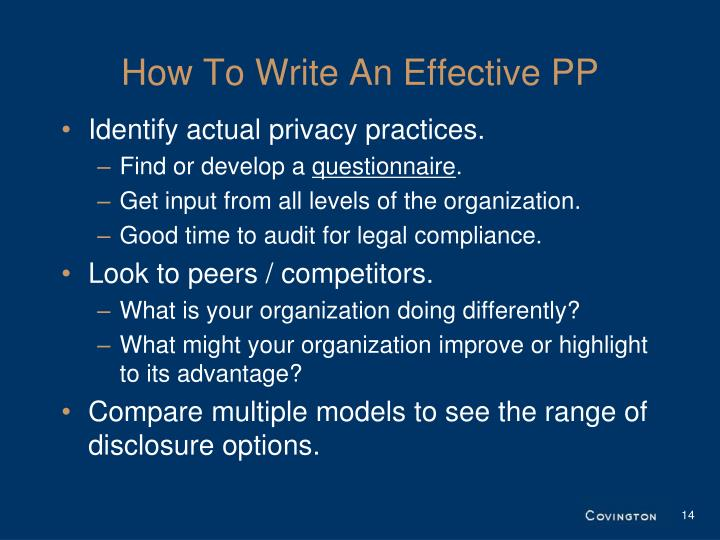 How To Write An Effective PP