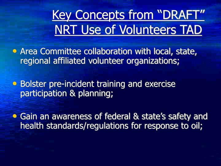 Area Committee collaboration with local, state, regional affiliated volunteer organizations;