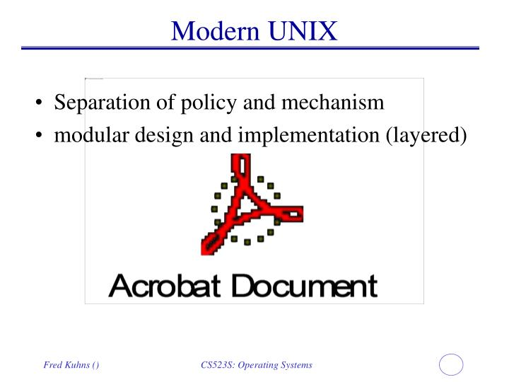 Modern UNIX