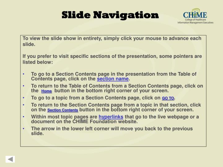 Slide Navigation