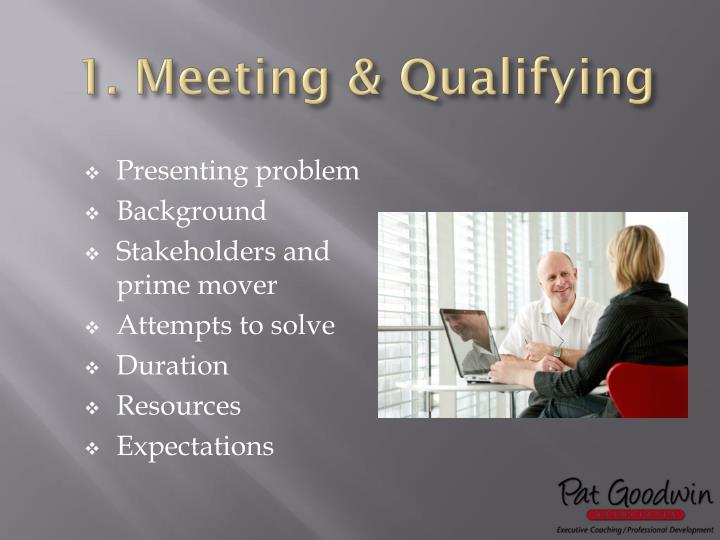 1. Meeting & Qualifying