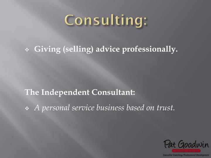 Consulting: