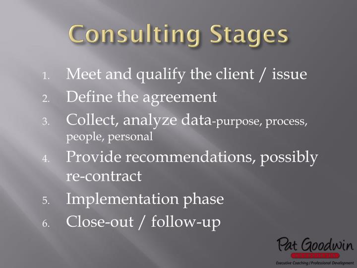 Consulting Stages