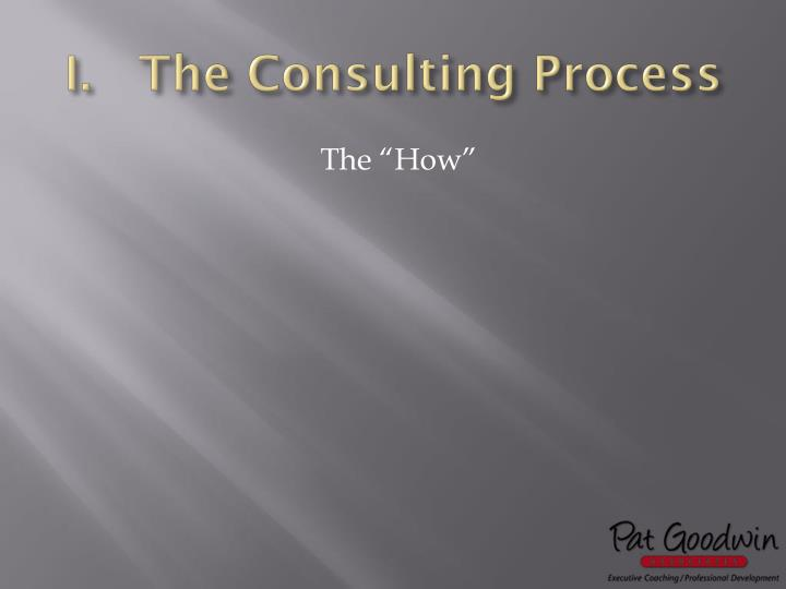 The Consulting Process