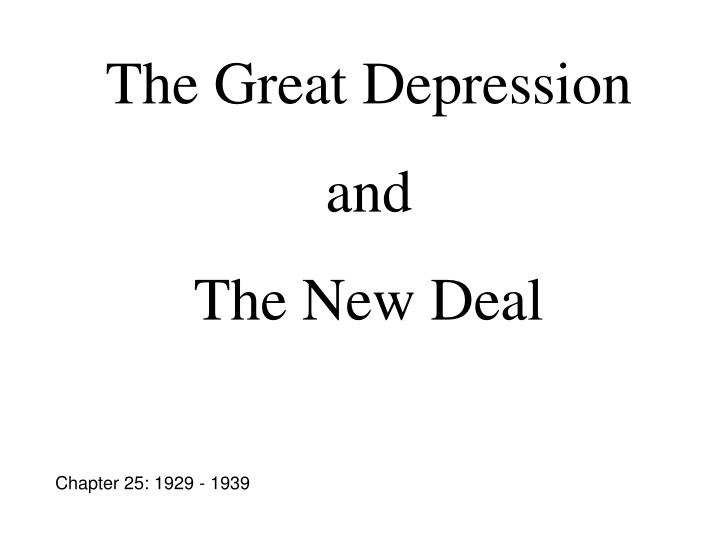 causes of the great depression and a critical view on the new deal