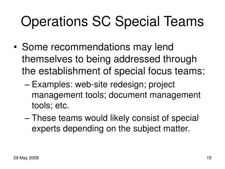 Operations SC Special Teams