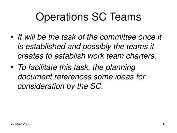 Operations SC Teams