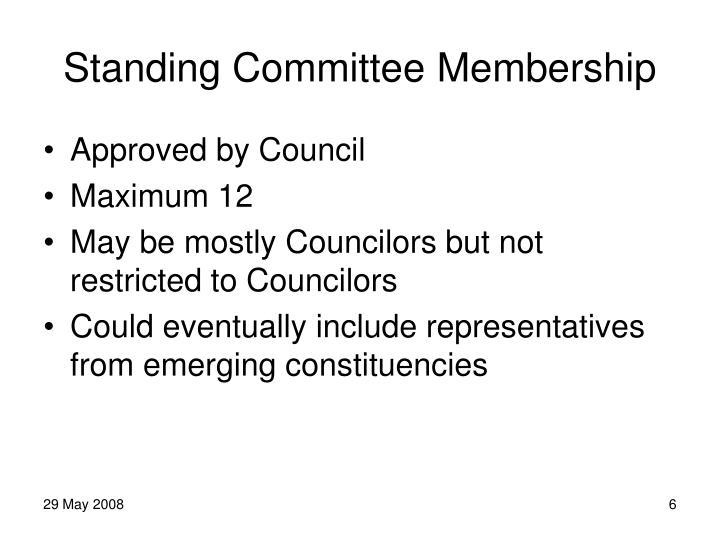 Standing Committee Membership